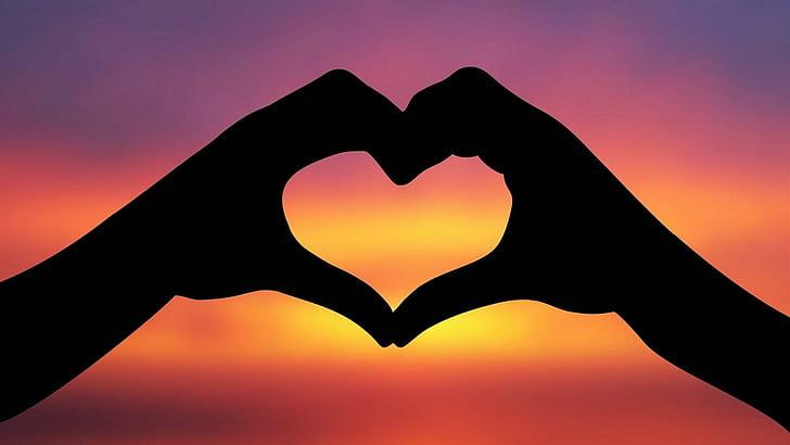 Mãos formando um coração